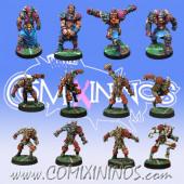 Evil - Team of 12 Players - Meiko Miniatures and Mano di Porco