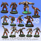 Evil - Team of 13 Players with Minotaur - Meiko Miniatures