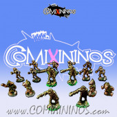 Magnetic Egyptian Team of 16 Players for Mini-BB