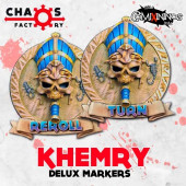 Set of 2 Delux Egyptian Reroll and Turn Counters - Chaos Factory