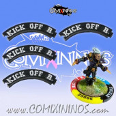 Set of 4 Black Kick Off Return Puzzle Skills for 32 mm Bases - Comixininos