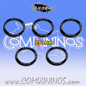 2016 Edition - Set of 5 Kick Off Return Skill Rings for 25 mm Bases - Comixininos
