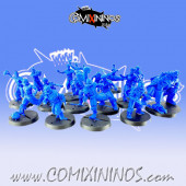 Kislev Circus - Complete Slavic Team B of 16 Players with Human Big Guy - Hexy Store