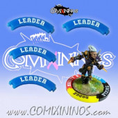 Set of 4 Blue Leader Skill Rings for 32 mm Bases - Comixininos