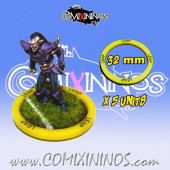 Set of 5 Leap Skill Rings for 32 mm Bases - Comixininos