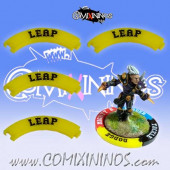 Set of 4 Yellow Leap Puzzle Skills for 32 mm Bases - Comixininos