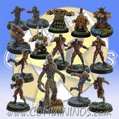 Old World Alliance - Light Covenant Team of 15 Players with Treeman - SP Miniaturas