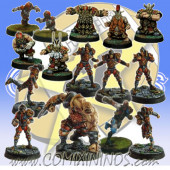 Old World Alliance - Light Covenant Team of 15 Players with Ogre - SP Miniaturas