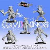 Goblins / Underworld - Set of 5 Gobfreak Stars Lineman Lot A - Games Miniatures