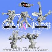 Goblins / Underworld - Set of 5 Gobfreak Stars Lineman Lot B - Games Miniatures