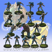 Humans - Lions of Fire Complete Team of 16 Players with Ogre - SP Miniaturas