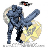Humans - Lions of Fire Loberas Chainsaw Human Star Player - SP Miniaturas