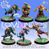 Lizardmen - Set of 6 Baby Lizards - Meiko Miniatures