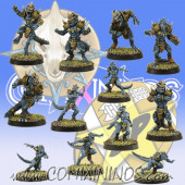 Lizardmen - Team of 12 Players without Big Guy - SP Miniaturas