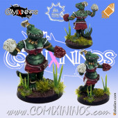 Lizardmen - Lizaurus Cheerleader - Meiko Miniatures