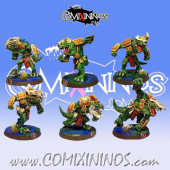 Lizardmen - Set of 6 Metal Lizaurus - Fanath Art