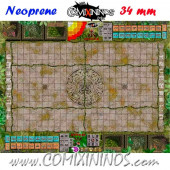 Lustria Neoprene Mousepad Pitch of 34 mm Squares WITH Dugouts - Comixininos