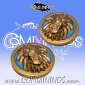 Set of 2 Turn and Reroll Lions of Fire Human Markers - SP Miniaturas
