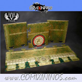 29 mm Maya Pitch with Dugouts - Puzzle -like Joint Hard Cardboard - FF Fields