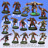 Evil - Complete Team of 16 Players with Minotaur and 3 Mutated Beastmen - Meiko Miniatures