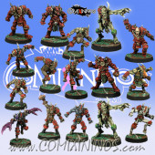 Evil - Nurgly Team of 16 Players with two Putrid Demons - Meiko Miniatures