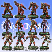 Evil - Slanny Team of 12 Players with two Pleasure Demons - Meiko Miniatures