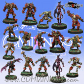 Evil - Slanny Team of 16 Players with two Pleasure Demons - Meiko Miniatures