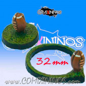 Set of Two 32 mm Football Bases - Meiko Miniatures