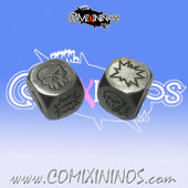 Set of 2 Heavy Metal Block Dice - Meiko Miniatures