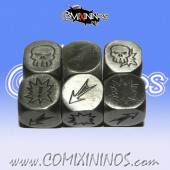 Set of 3 Heavy Metal Block Dice - Meiko Miniatures