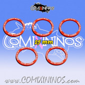 Set of 5 Mighty Blow Skill Rings for 25 mm Bases - Comixininos