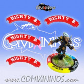 Set of 4 Red Mighty Blow Puzzle Skills for 32 mm Bases - Comixininos