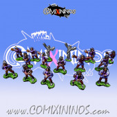 Magnetic Dark Elf Team of 16 Players for Mini-BB
