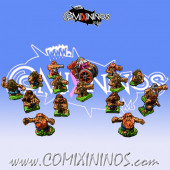 Magnetic Dwarf Team for Mini-BB of 16 Players with Steamroller