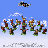 Magnetic Evil Dwarf Team for Mini-BB of 16 Players with 2 Bull Centaurs