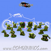 Magnetic Goblin Team for Mini-BB of 16 Players with 2 Trolls