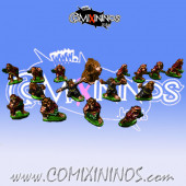 Magnetic Ratmen Team for Mini-BB of 16 Players with Rat Ogre