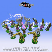 Magnetic Undead Team of 16 Players for Mini-BB