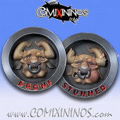 Double Sided Stunned/Prone Coin for Minotaurs - Chaos Factory