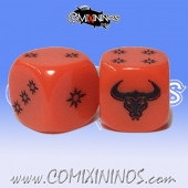 Set of 2d6 Minotaur Evil Chosen Dice - Akaro
