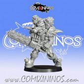 Goblins / Underworld - Gobfreak Sawfool with Chainsaw nº 4 - Games Miniatures