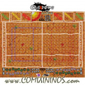 29 mm Chaos Logo Mud Plastic Gaming Mat with BB7 Parallel Dugouts - Comixininos