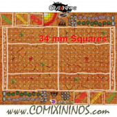 34 mm Mud Plastic Gaming Mat with Crossed Dugouts - Comixininos