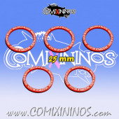 Set of 5 Multiple Block Skill Rings for 25 mm Bases - Comixininos