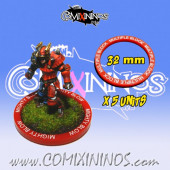 Set of 5 Multiple Block Skill Rings for 32 mm Bases - Comixininos