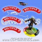 Set of 4 Red Multiple Block Puzzle Skills for 32 mm GW Bases - Comixininos