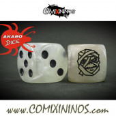 Set of 2d6 Mummy Undead / Egyptian Dice - Meiko
