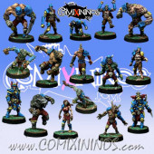 Necromantic - Complete Team of 16 Players - Willy Miniatures