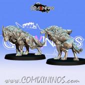 Necromantic - Resin Set of 2 GoN Dead Wolves - Fanath Art