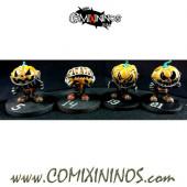 Necromantic - Set A  of 4 Pumkins of Halloween Hellraisers - Labmasu